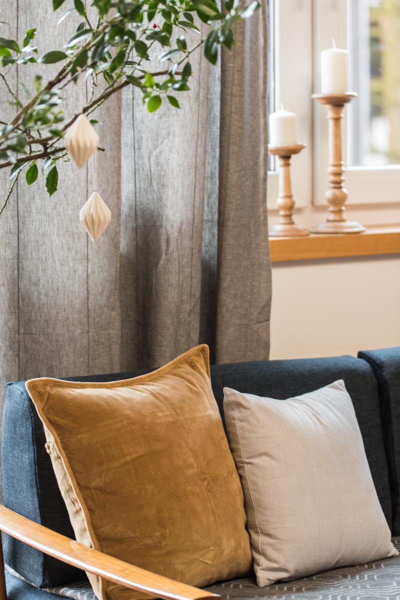 Dekoideen für das Wohnzimmer im Winter vor Weihnachten im vintage Stil