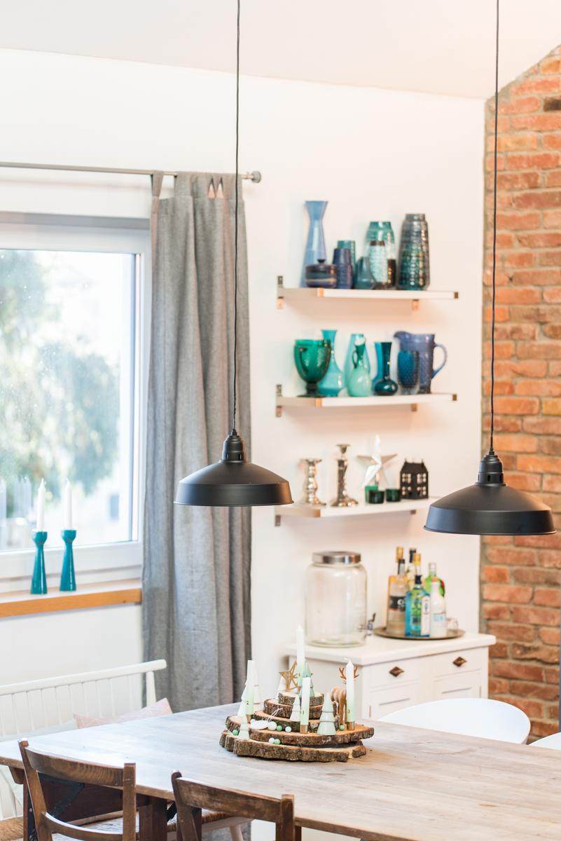 Dekoidee für Weihnachten im Wohnzimmer im vintage Look