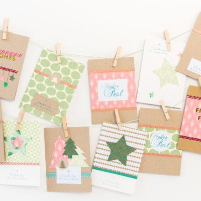 Meine selbst gemachten Weihnachtskarten