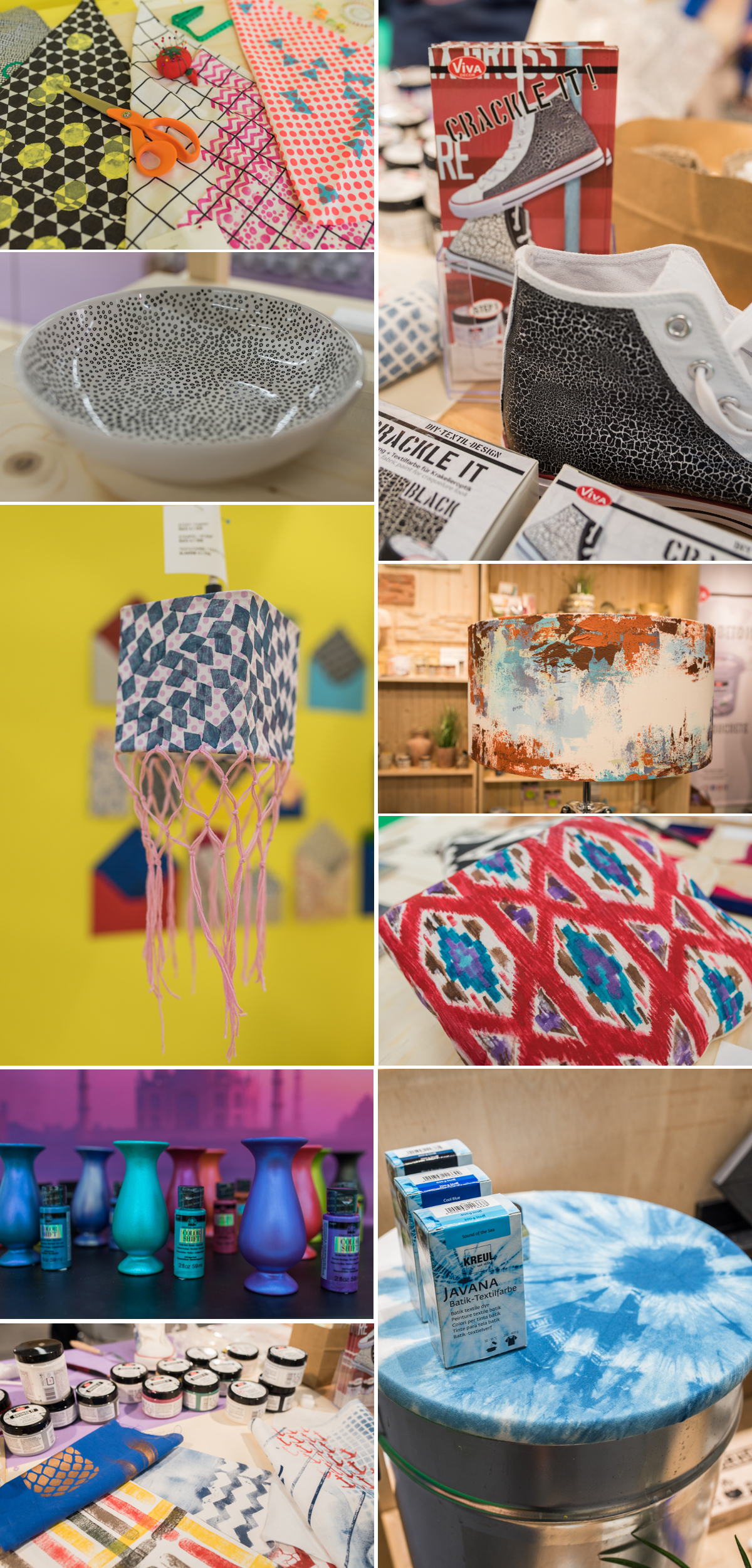 Bilder von der Creative World Messe 2017 in Frankfurt und DIY Trends