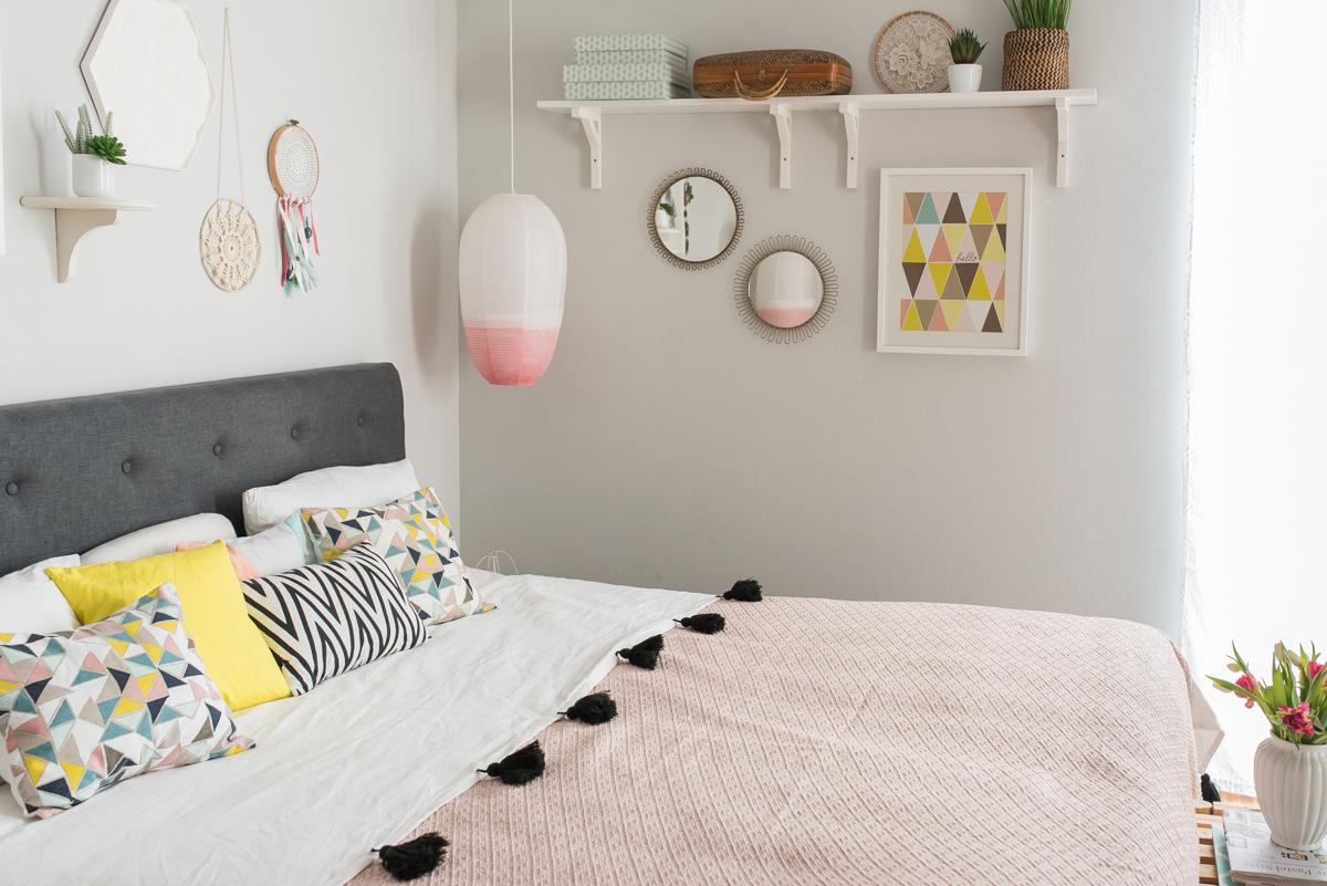 AuBergewohnlich Deko Und DIY Ideen Im Frühling Für Die Schlafzimmer Einrichtung In  Pastellfarben Und Eine Kaffeebar Mit