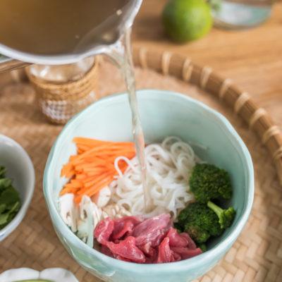 Rezept für vietnamesische Pho Bo Suppe