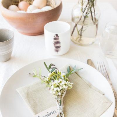 DIY – kleine Blumensträußchen für die Oster-Tischdeko