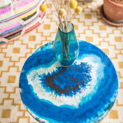 DIY – Tisch im Achat Look