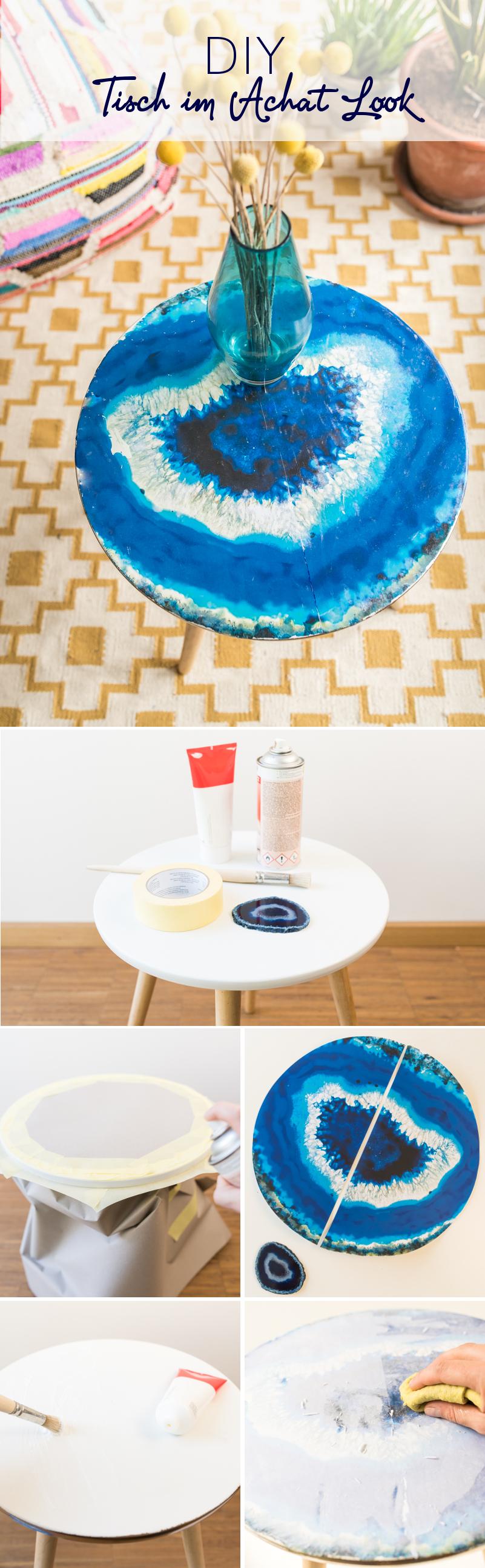 DIY - Tisch im Achat Look - Leelah Loves