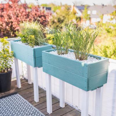 DIY – Pflanzkübel als Sichtschutz für den Balkon
