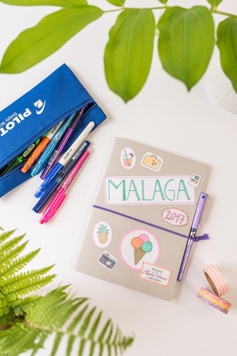 Anleitung für ein selbst gemachtes DIY Reisetagebuch zum Verschenken für eine Freundin für den Kurztrip nach Malaga