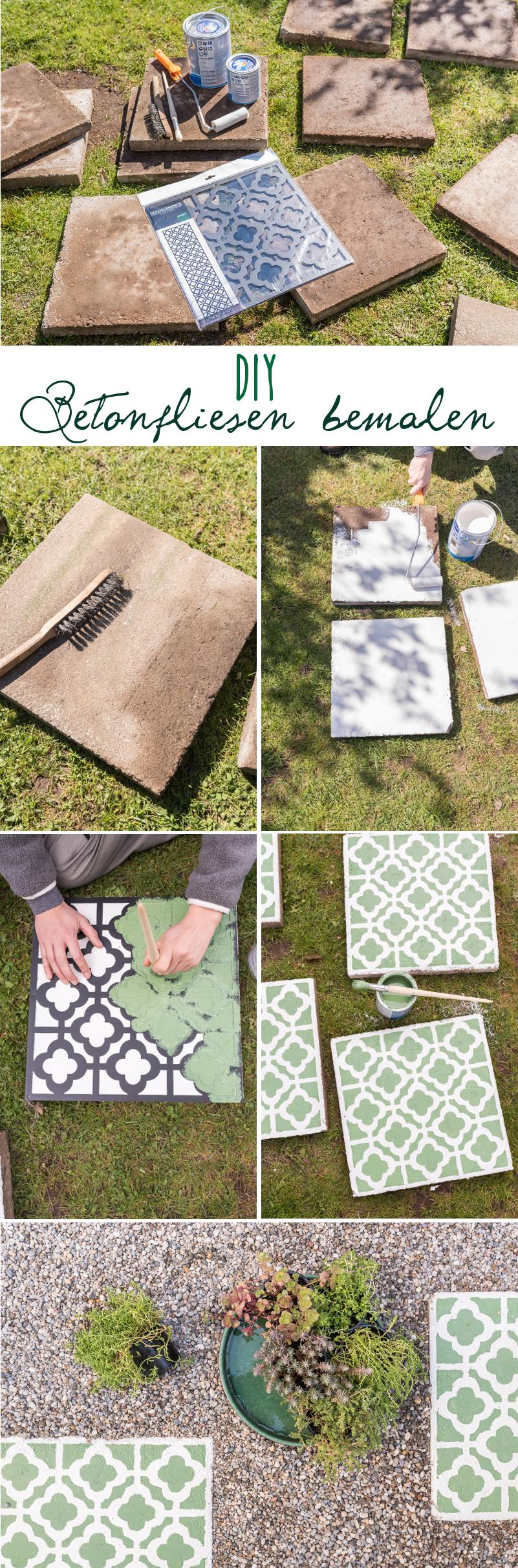 Gehwegplatten Streichen diy betonplatten upcycling für den garten leelah