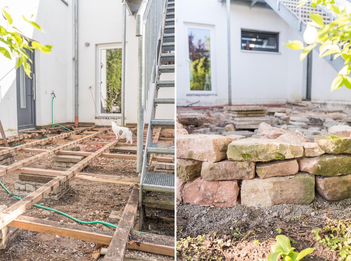 DIY Inspiration für ein Terrassen makeover in Schattenlage mit vorher nachher Bildern und Tipps für Schattenpflanzen