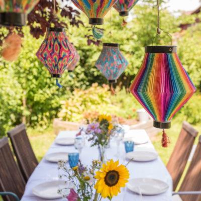 Gartenparty Deko und ein leckeres Rezept als Vorspeise für´s Büffett