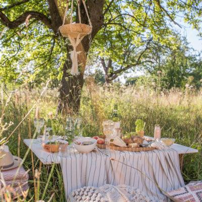 DIY – selbst genähter Weinkühler und Dekoideen für dein Sommerpicknick