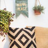 DIY – outdoor Wimpel aus Wachstuch