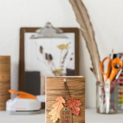 DIY – Einladungskarten zum Herbstgeburtstag