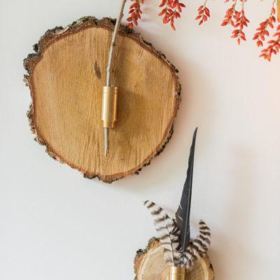 DIY – herbstliche Wanddeko aus Baumscheiben