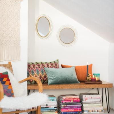 Couch, Kissen, Tee und Kerzen…