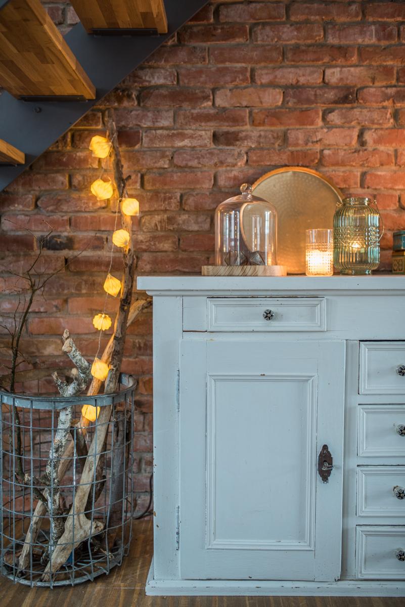 Dekoideen für das Wohnzimmer im Winter im skandinavischen vintage Look