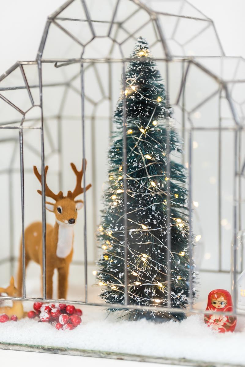 Dekoideen für das Wohnzimmer zu Weihnachten im vintage Look