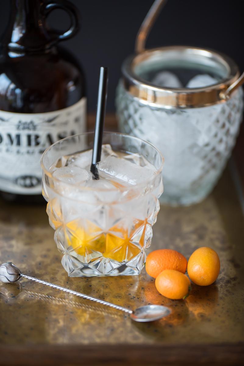 Rezept für Bombay Crushed Cocktail mit Gin und Kumquats für Silvester