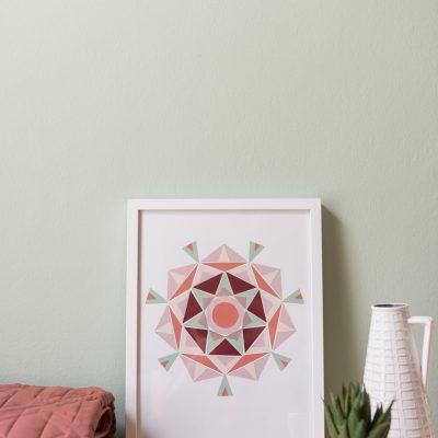 DIY – Mandala Bild im Boho Look aus Farbkarten