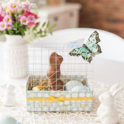 DIY – Hasenstall Osternest aus Papier und Draht