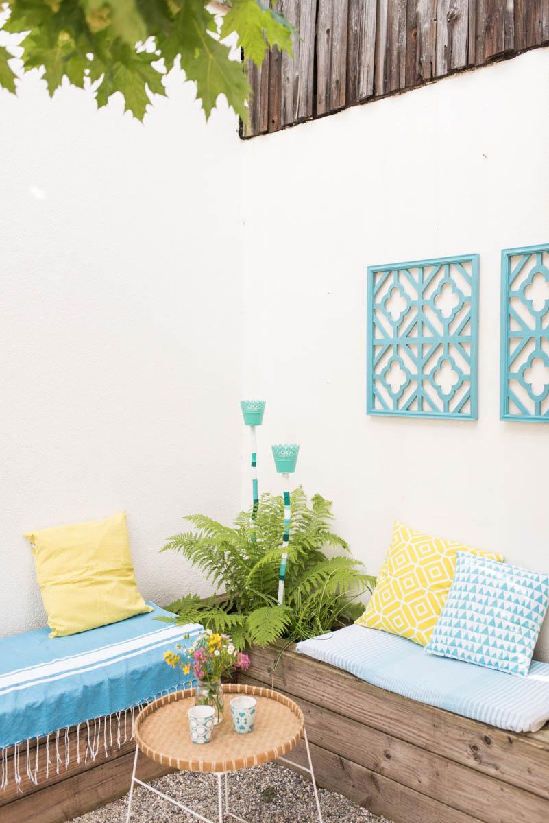 DIY Anleitung für selbst gemachte Laternen Windlichter für den Garten oder den Balkon aus Blumentöpfen und Ästen als Gartendeko für Pflanzkübel