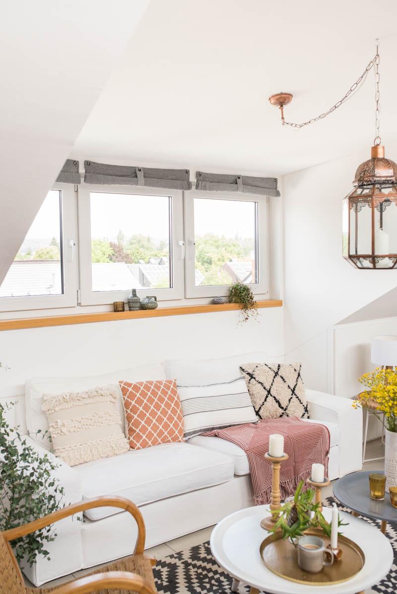 DIY Anleitung für super einfache, selbst genähte Raffrollos für praktisch jedes Fenster