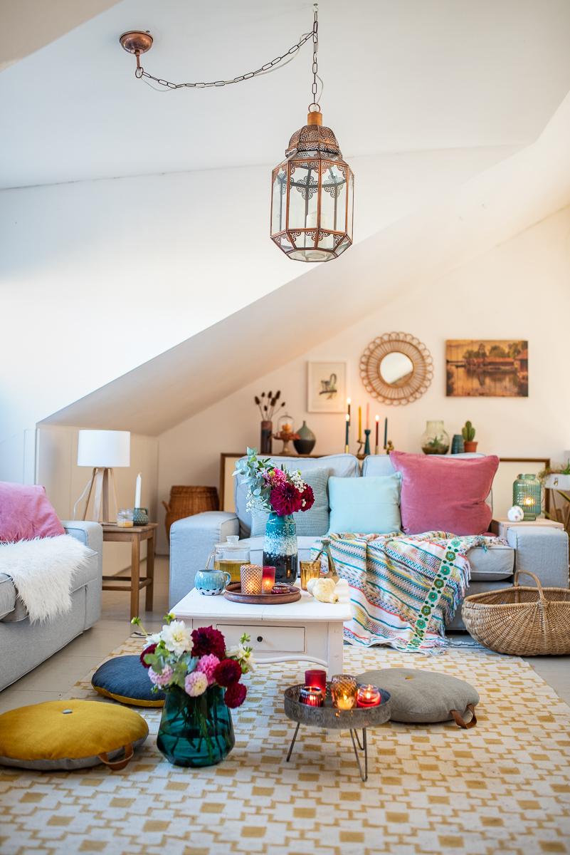 Dekoideen für das Wohnzimmer im Herbst - Leelah Loves