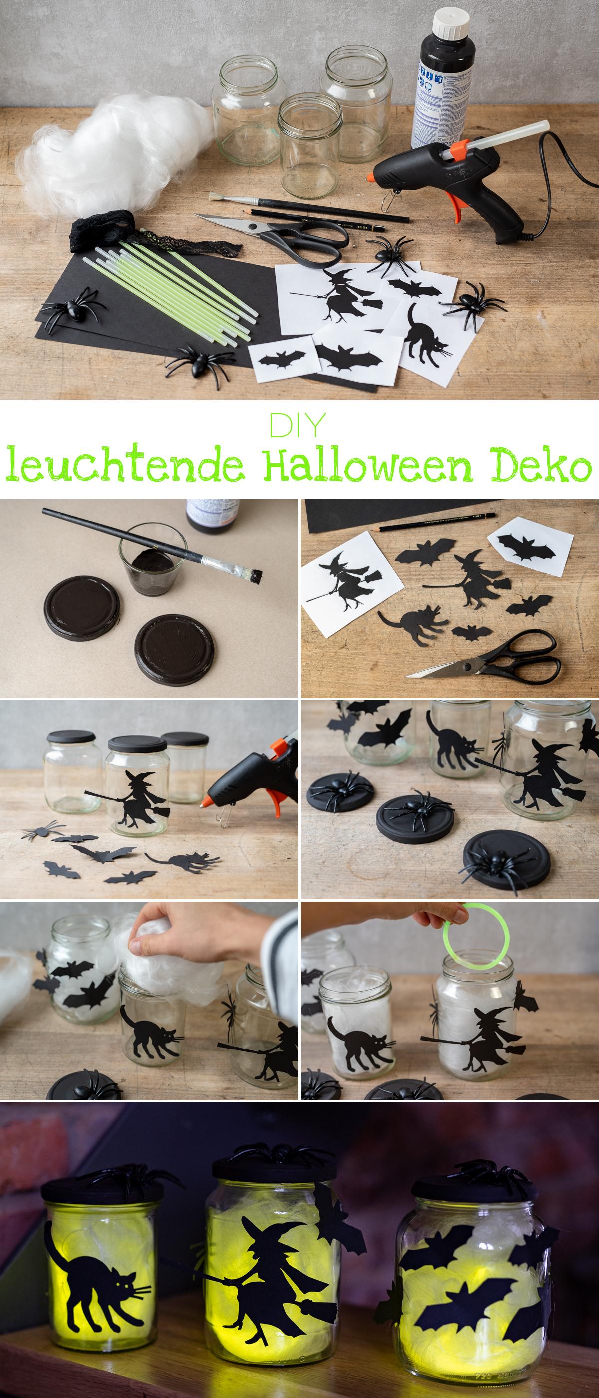 Diy Leuchtende Halloween Deko Glaser Leelah Loves