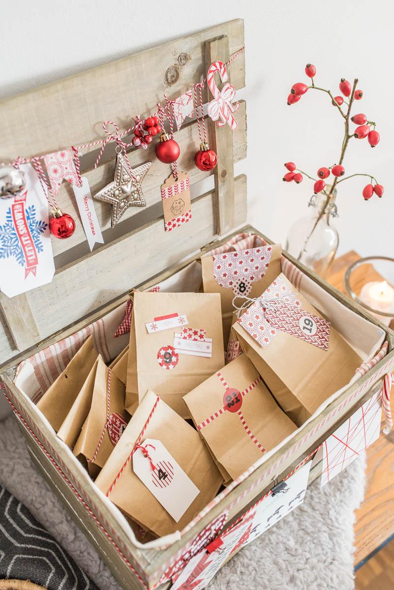 Die schönsten DIY Ideen mit Anleitung für den Advent für selbst gemachte Adventskalender, Adventskranz und Deko für den Advent