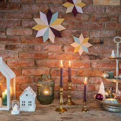DIY Weihnachtsdeko: Sterne aus Balsaholz