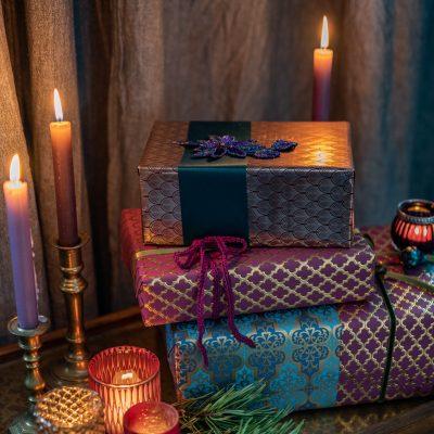 DIY Inspiration: Geschenke für Weihnachten verpacken im glamour Look