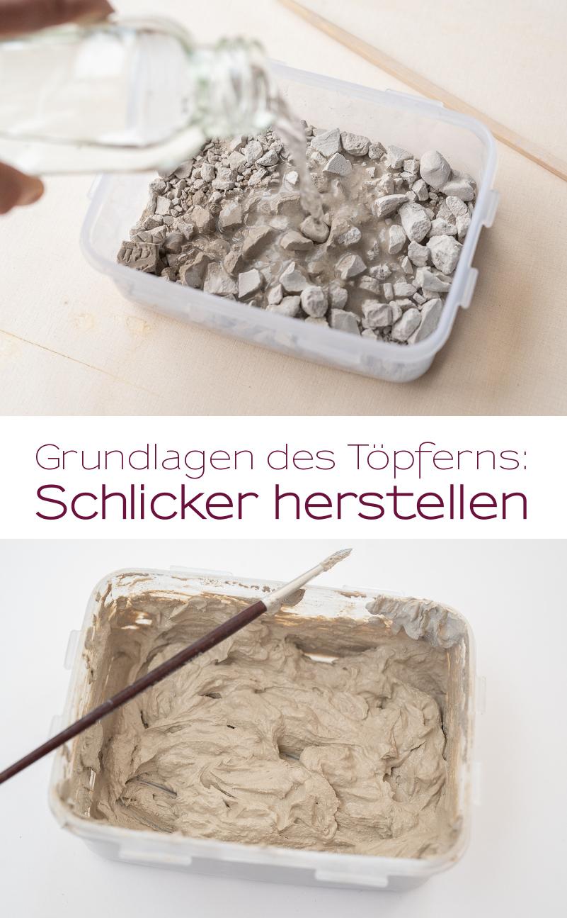 Anleitung für selbst getöpfterte mini tripod Blumentöpfe aus Ton mit Erklärung der Grundlagen für Töpfer Anfänger und Anleitung für Schlicker