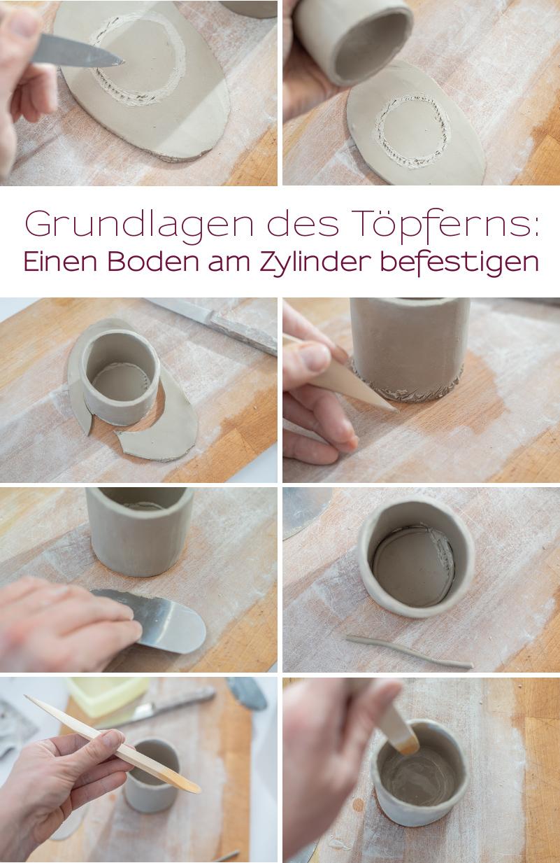 Anleitung für selbst getöpfterte mini tripod Blumentöpfe aus Ton mit Erklärung der Grundlagen für Töpfer Anfänger