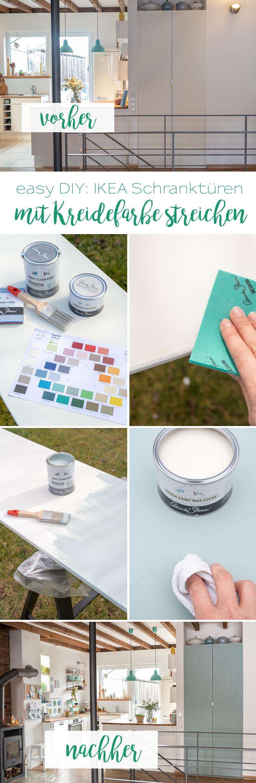 Anleitung für ein einfaches DIY mit großer Wirkung: alte IKEA Türen streichen mit Kreidefarbe inklusive Schritt für Schritt Anleitung