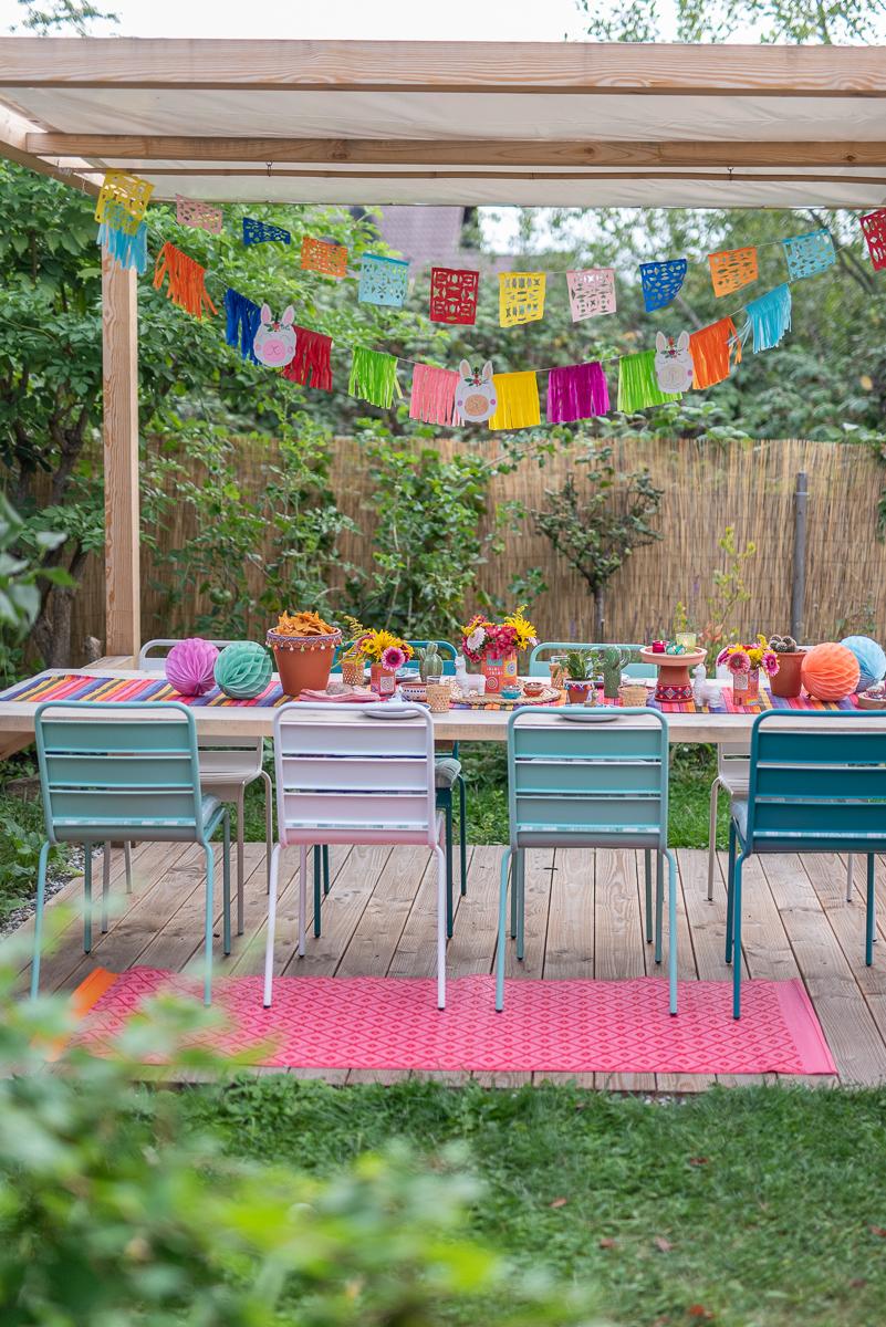 Dekoideen für die Lama Fiesta Party zum Kindergeburtstag im Mexiko Look mit DIY Deko zum selbermachen