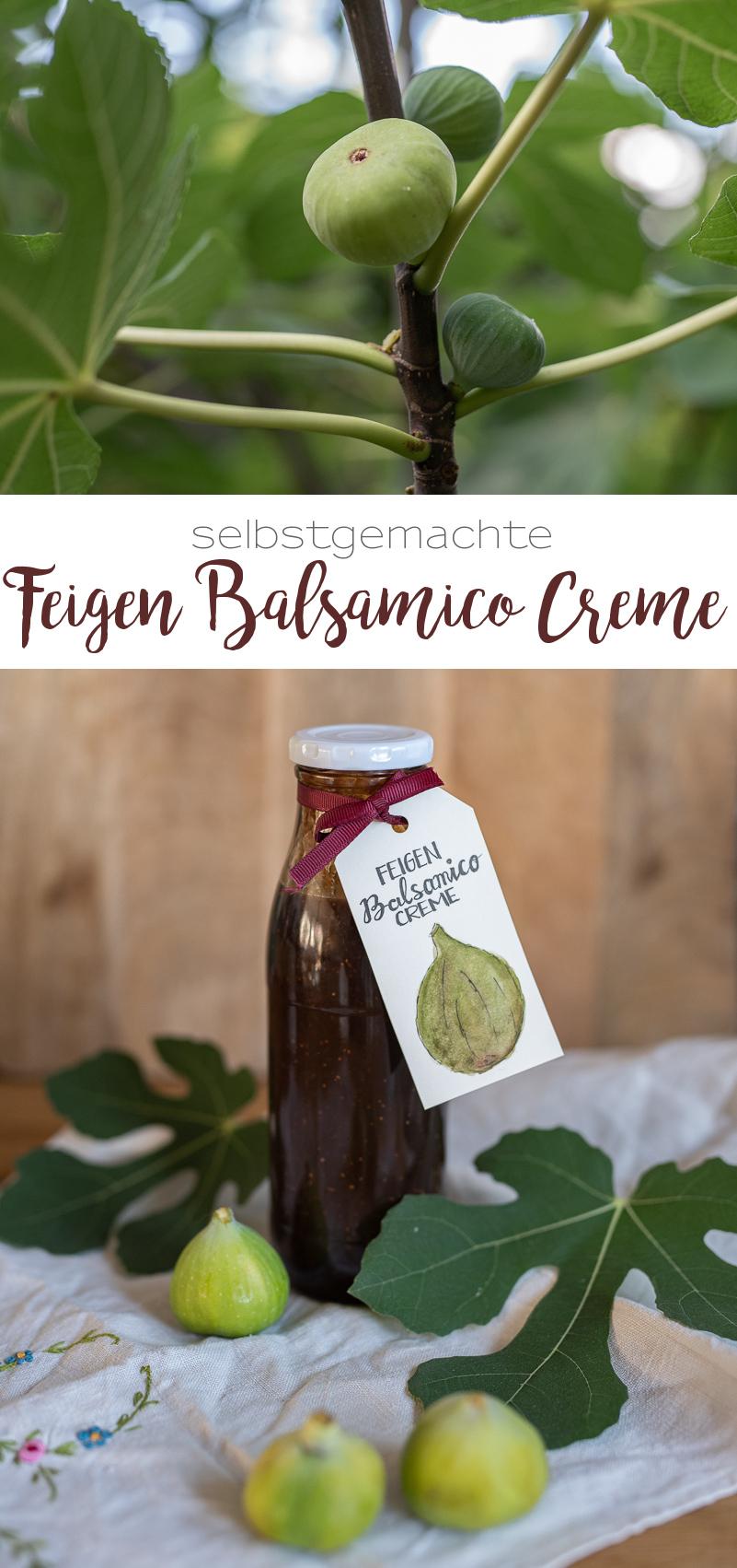 Rezept für selbstgemachte Feigen Balsamico Creme für Salate und Saucen oder als Geschenk aus der Küche