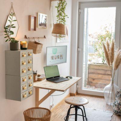 Homeoffice einrichten auf kleinstem Raum