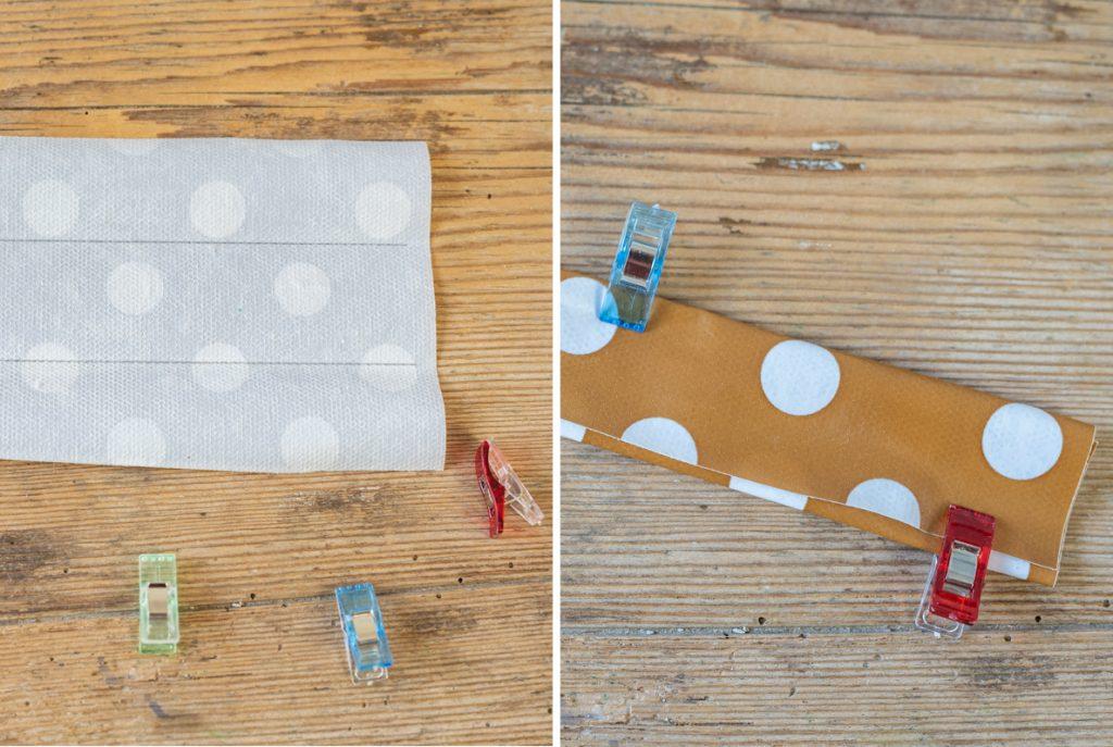 Anleitung für selbst genähte Körbe aus Wachstuch als praktische Aufbewahrung für Spielsachen und Spiele für Ordnung beim Campen