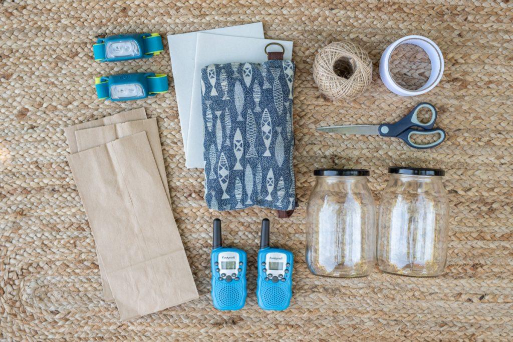Outdoor Equipment für ältere Kinder auf dem Campingplatz im Camping Urlaub