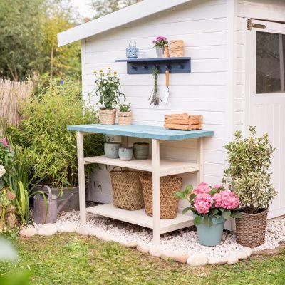 DIY - Pflanztisch für den Garten
