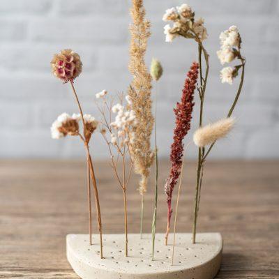 DIY Töpfern: Dekoschale und Flowergram für Trockenblumen