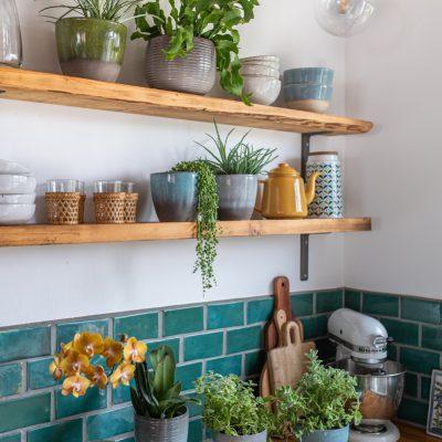 Dekoideen mit Pflanzen in der Küche