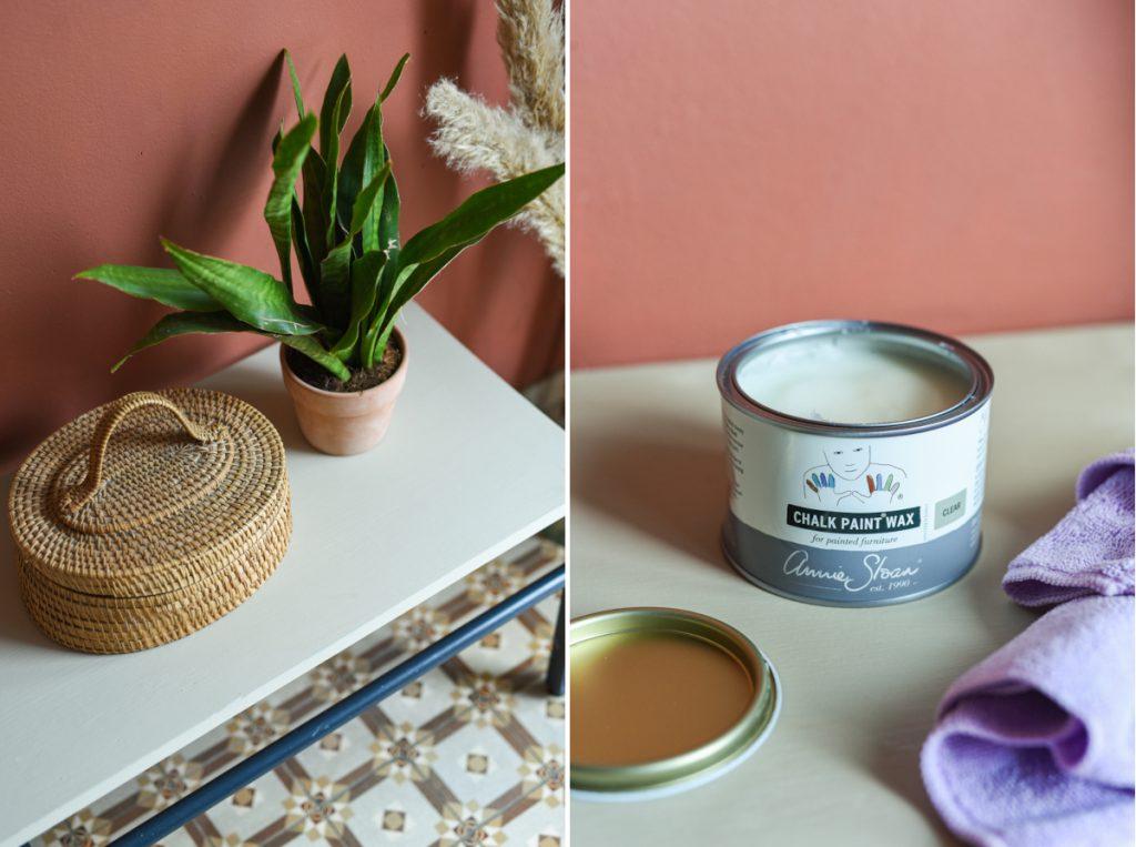 DIY Möbel mit Kreidefarbe von Annie Sloan über Melflair schnell und einfach verschönern mit Deko Tipps im scandi Boho Look