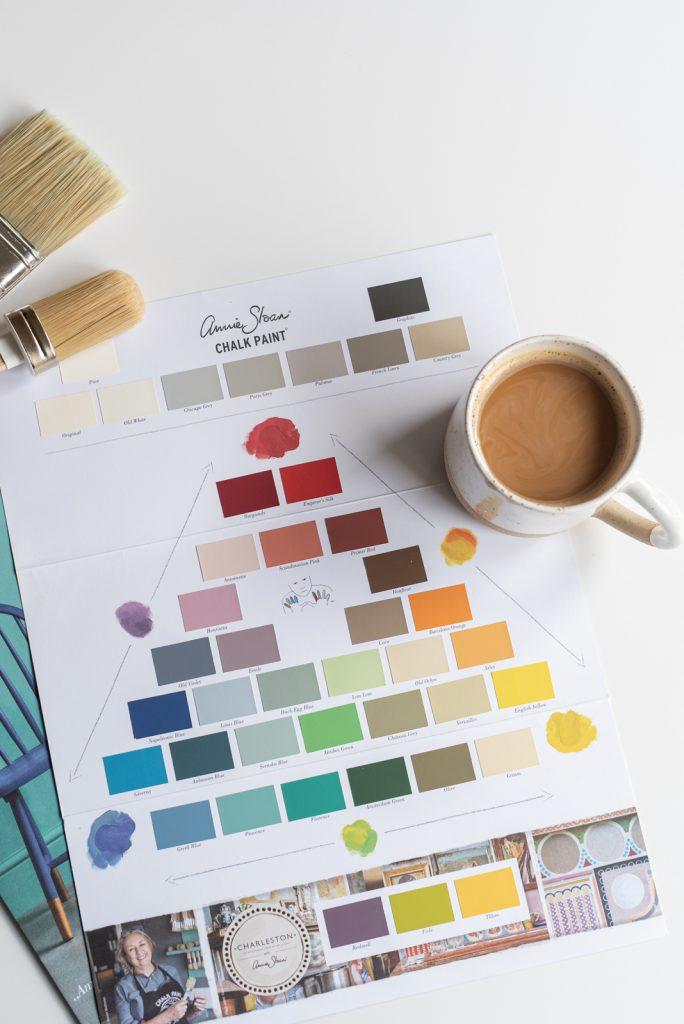 DIY Möbel mit Kreidefarbe von Annie Sloan über Melflair schnell und einfach verschönern, ein schnelles makeover mit Farbe