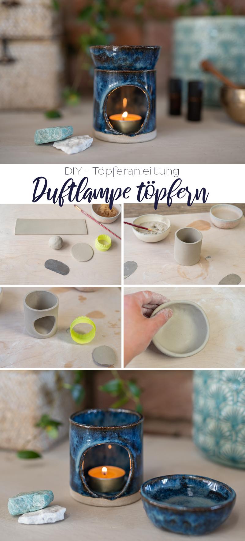 Töpfer Anleitung für eine handgetöpferte Duftlampe für ätherische Öle ohne Töpferscheibe aus Keramik