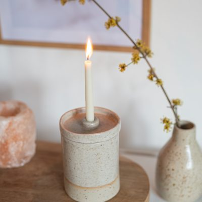 DIY - Töpferanleitung: Kerzendose mit Deckel töpfern